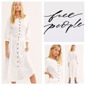 🆕Free People FP Beach Tibitha Midi Dress.  NWOT.